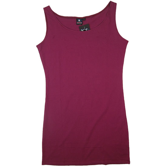 (L07G) Lady U-Neck Dress Style, Fabric color (3121) Plum