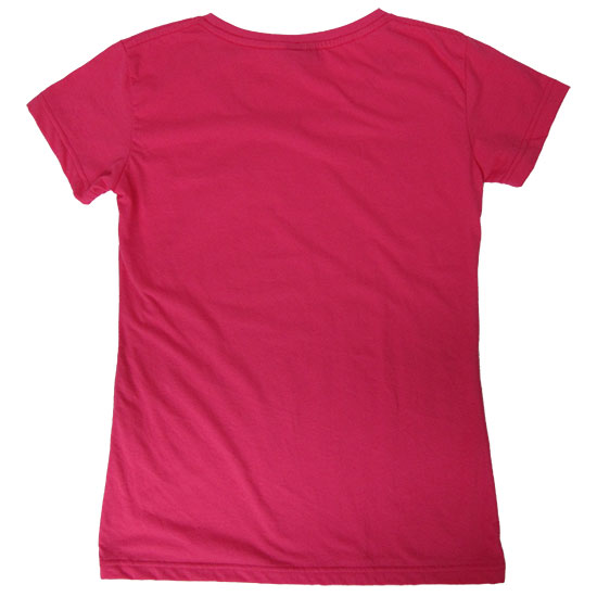 (L14G) Lady T-shirt, Fabric color (3142) Hot Pink